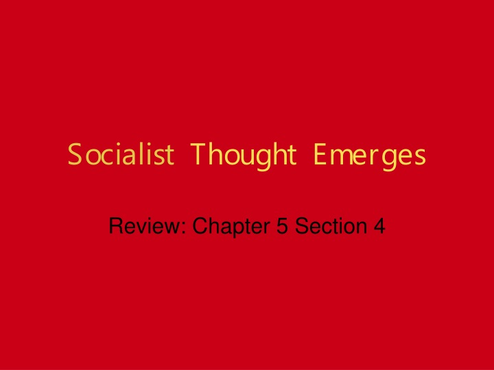 socialist thought emerges n.