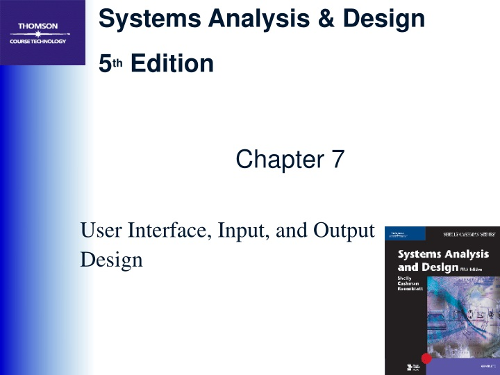 user interface input and output design n.