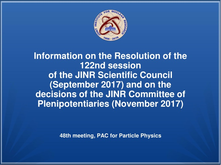 information on the resolution of the 122nd n.