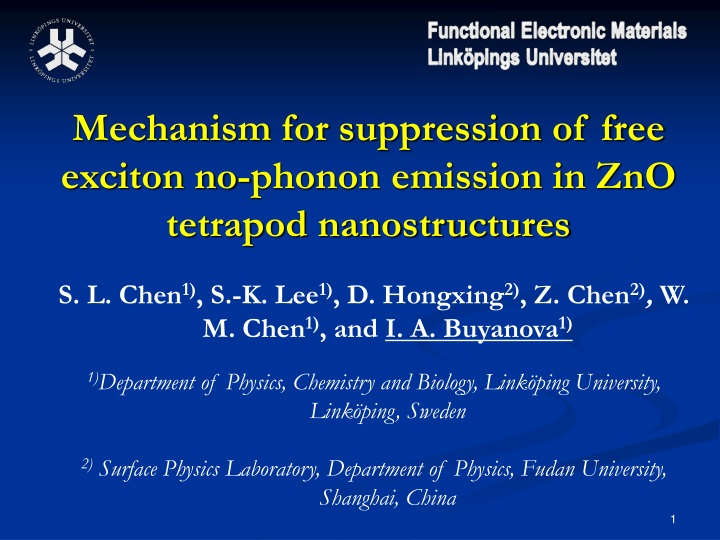 mechanism for suppression of free exciton n.