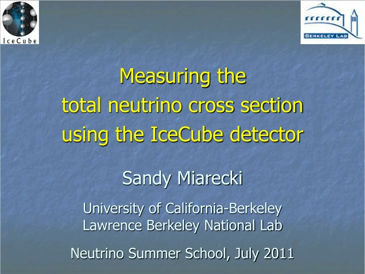 measuring the total neutrino cross section using the icecube detector n.