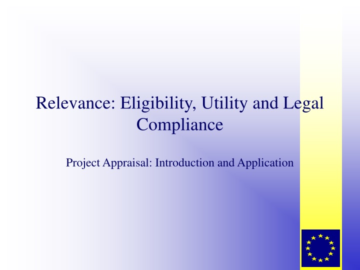 relevance eligibility utility and legal compliance n.