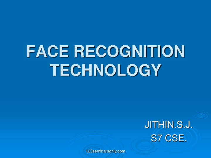 face recognition technology n.