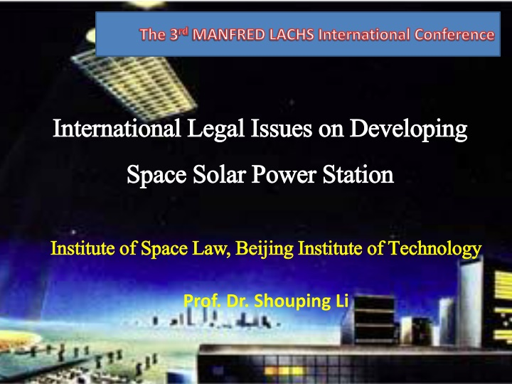 international legal issues on developing space solar power station n.