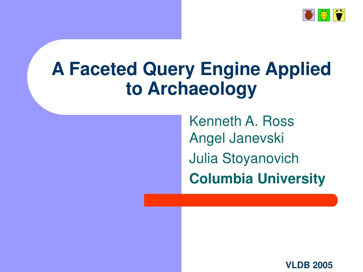a faceted query engine applied to archaeology n.