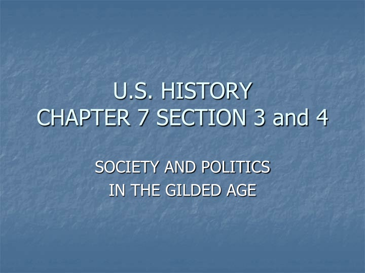 u s history chapter 7 section 3 and 4 n.