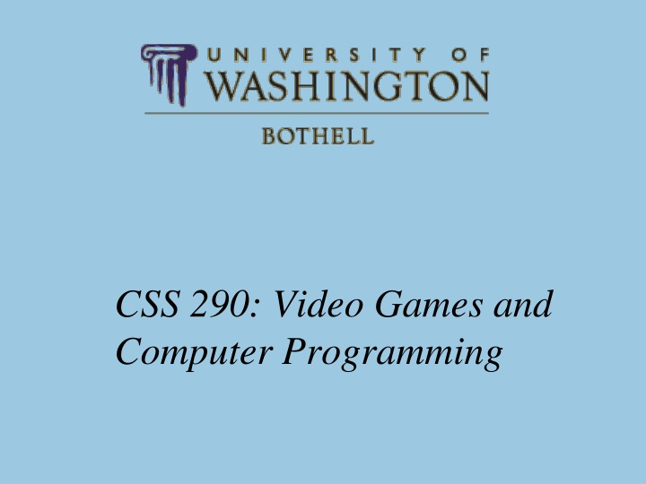 css 290 video games and computer programming n.