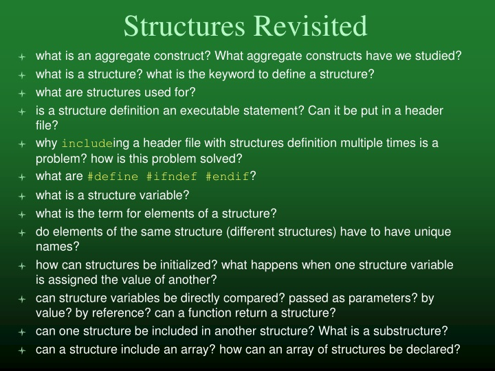 structures revisited n.