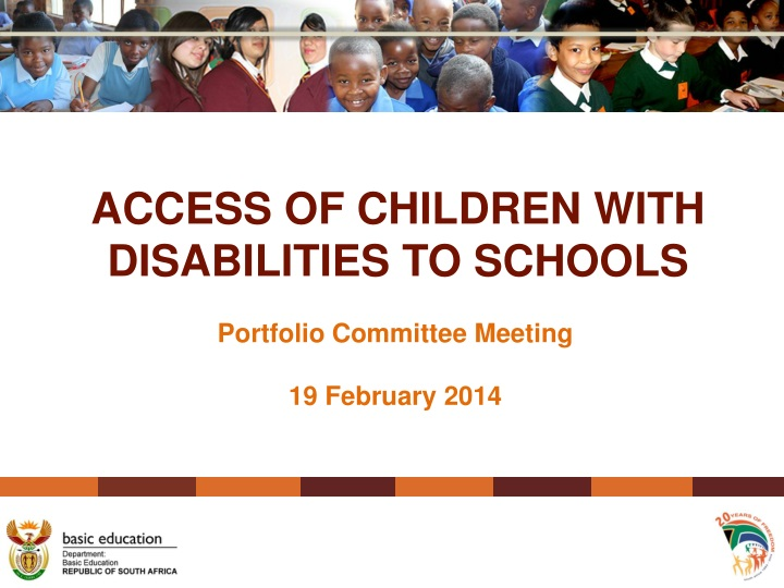 access of children with disabilities to schools n.