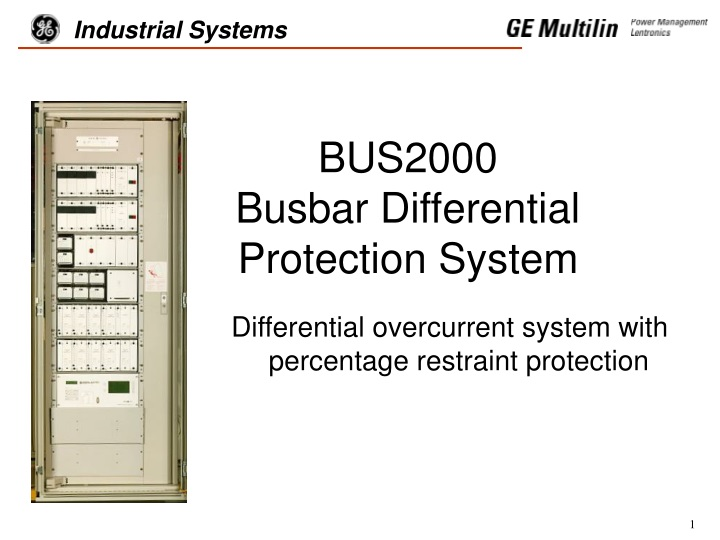 bus2000 busbar differential protection system n.