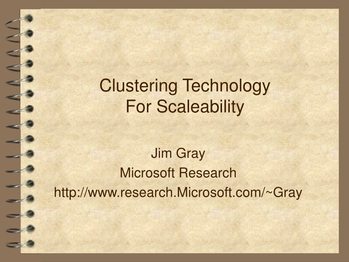 clustering technology for scaleability n.
