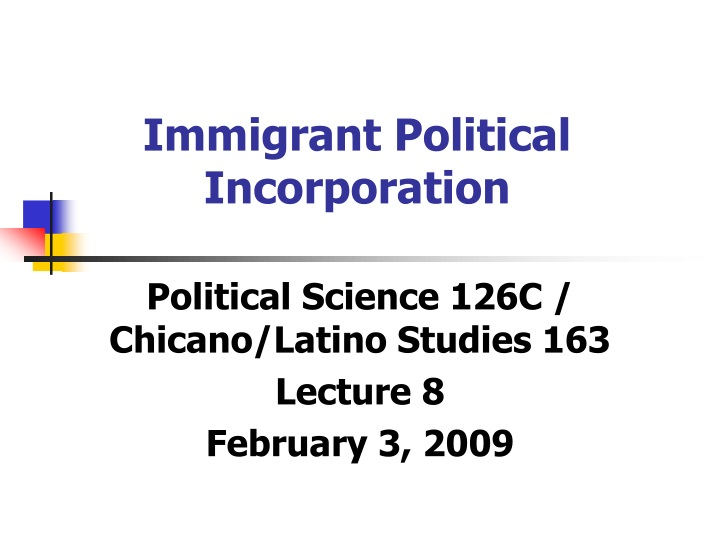 immigrant political incorporation n.