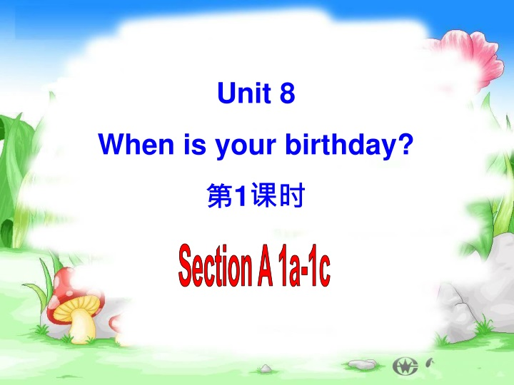 unit 8 when is your birthday 1 n.