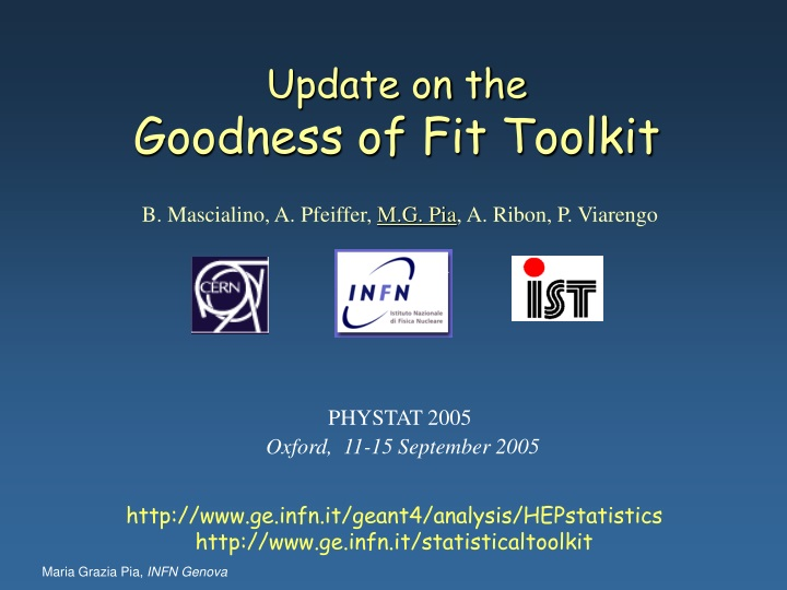 update on the goodness of fit toolkit n.