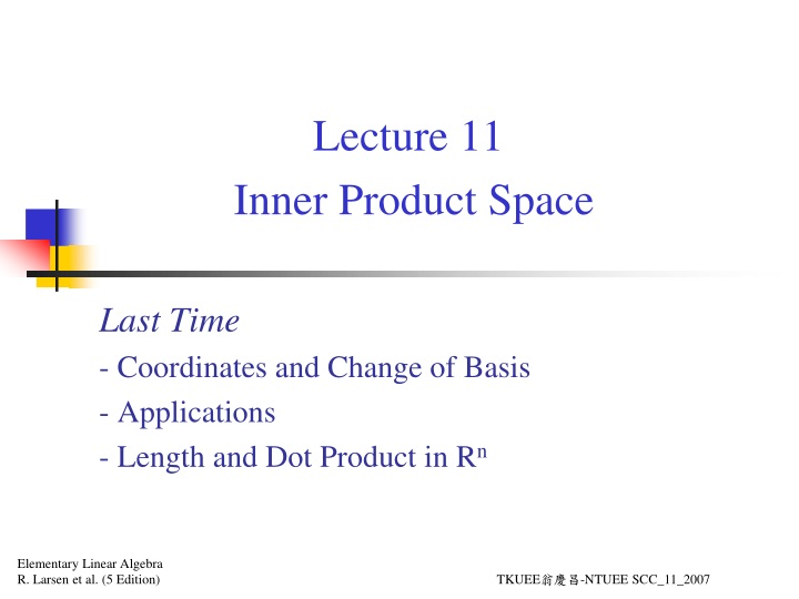lecture 11 inner product space n.