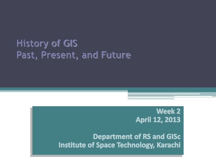 history of gis past present and future n.