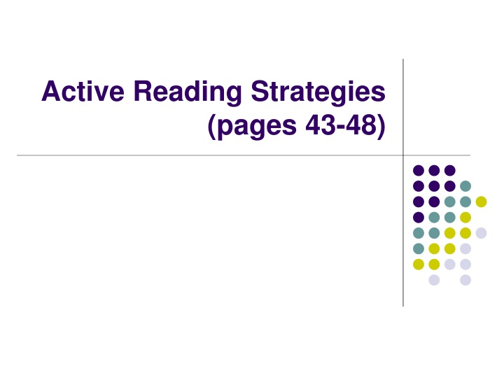active reading strategies pages 43 48 n.