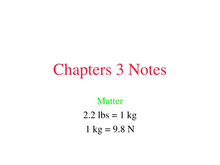 chapters 3 notes n.