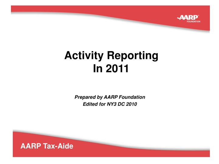 activity reporting in 2011 n.