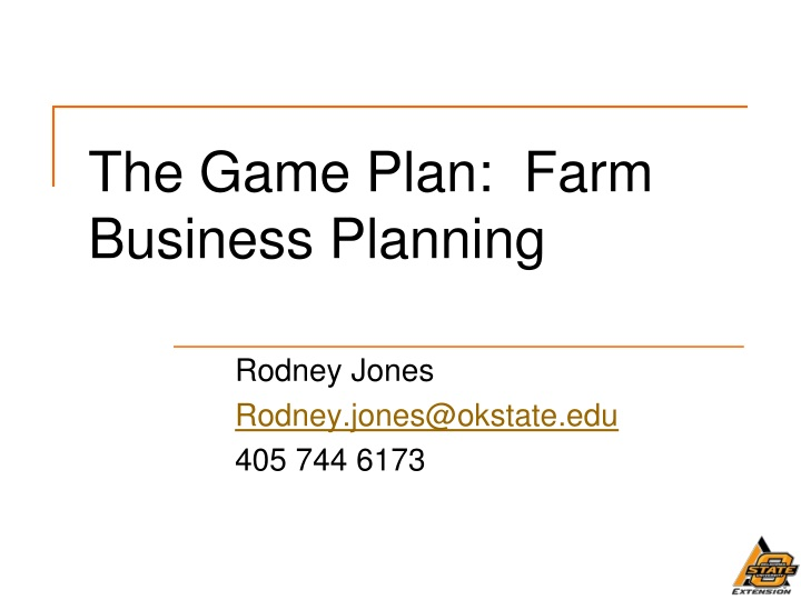the game plan farm business planning n.