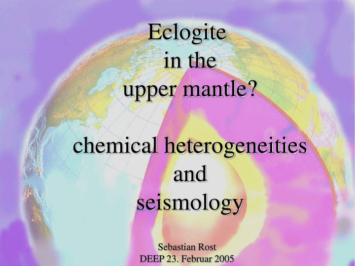 eclogite in the upper mantle chemical n.