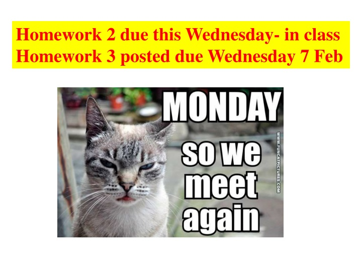 homework 2 due this wednesday in class homework n.