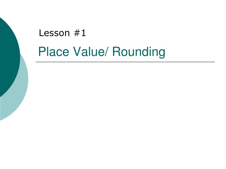 place value rounding n.