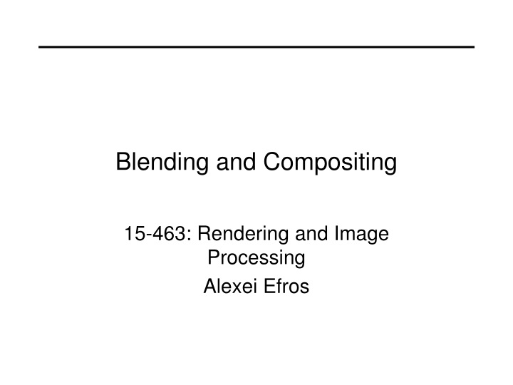 blending and compositing n.