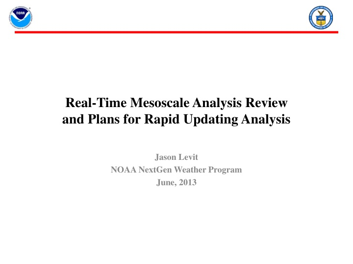 real time mesoscale analysis review and plans for rapid updating analysis n.