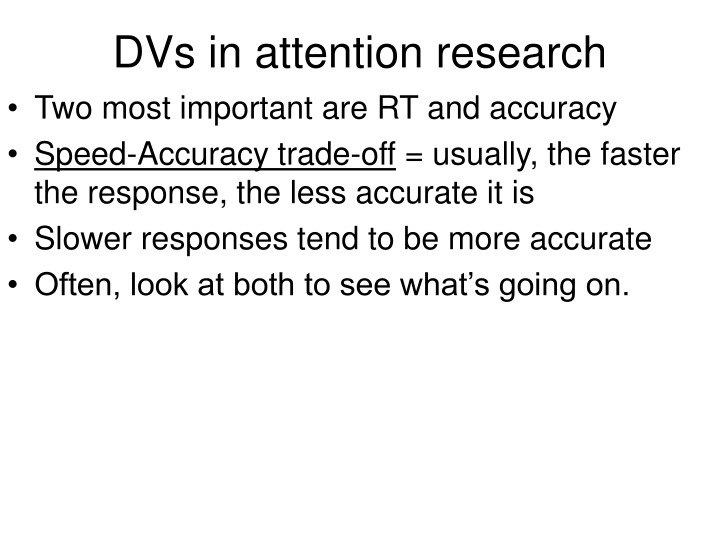 dvs in attention research n.