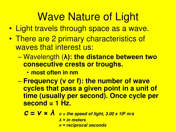 wave nature of light n.