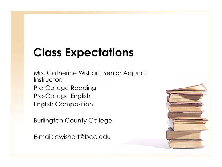 class expectations n.