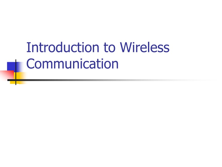 introduction to wireless communication n.