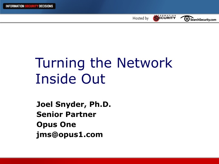 turning the network inside out n.