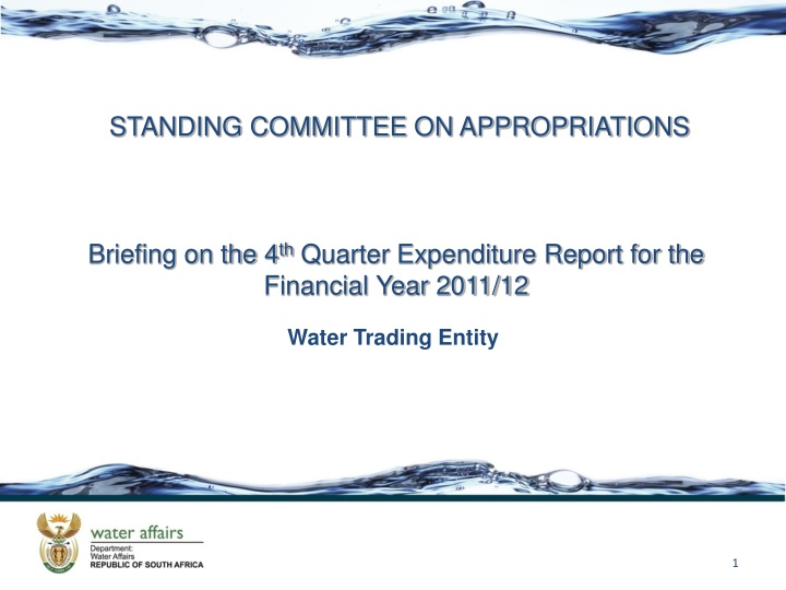 standing committee on appropriations n.