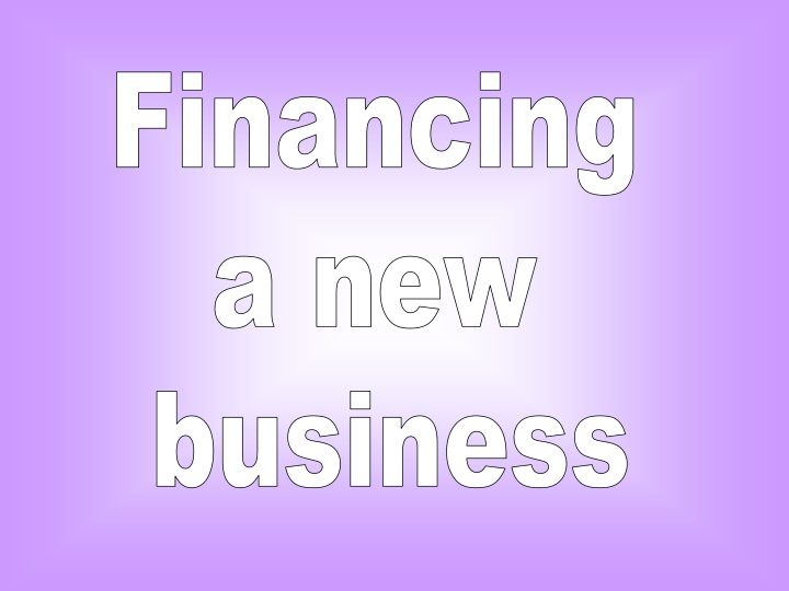 financing a new business n.
