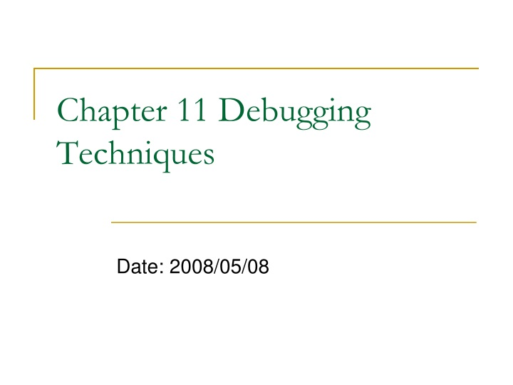 chapter 11 debugging techniques n.