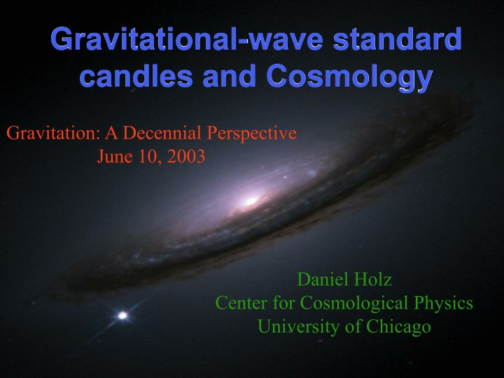 gravitational wave standard candles and cosmology n.