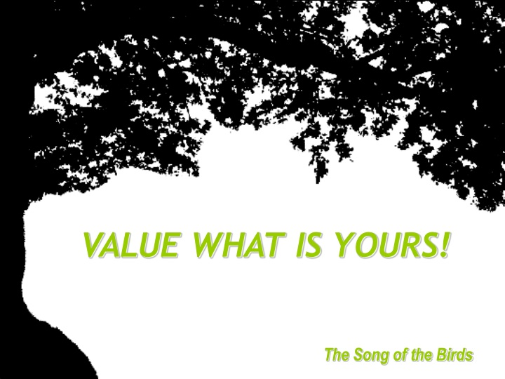 value what is yours n.