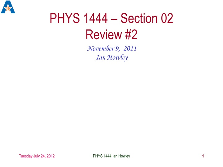 phys 1444 section 02 review 2 n.