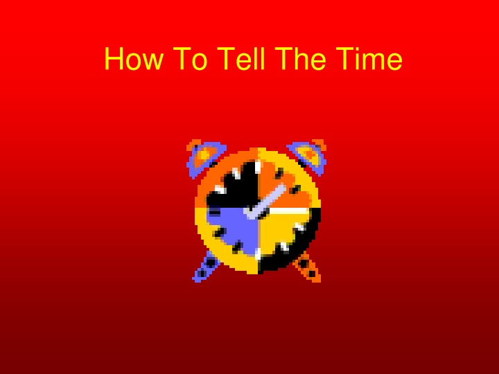 how to tell the time n.