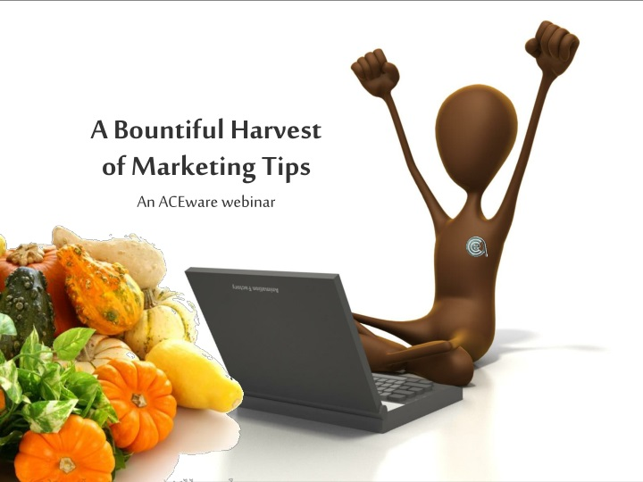 a bountiful harvest of marketing tips n.