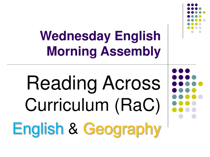 wednesday english morning assembly n.