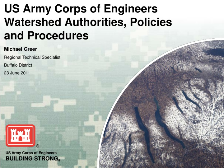 us army corps of engineers watershed authorities policies and procedures n.