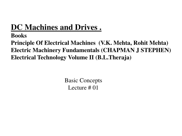 dc machines and drives books principle n.