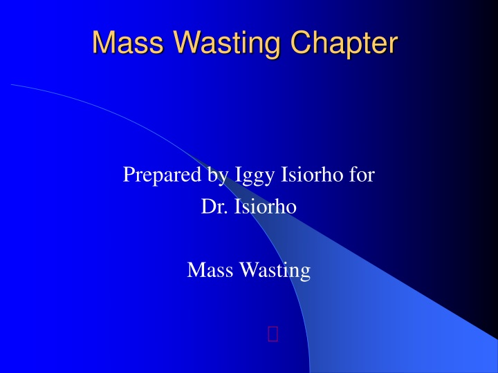 mass wasting chapter n.
