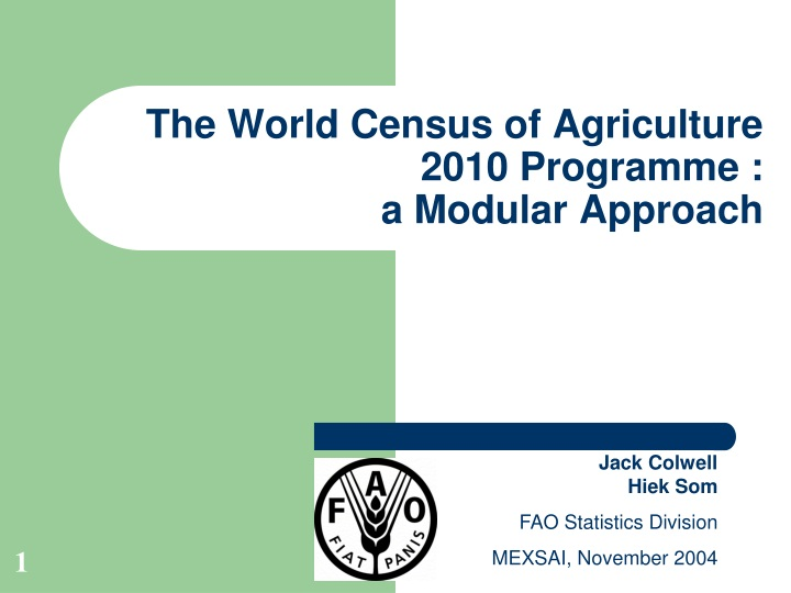 the world census of agriculture 2010 programme a modular approach n.