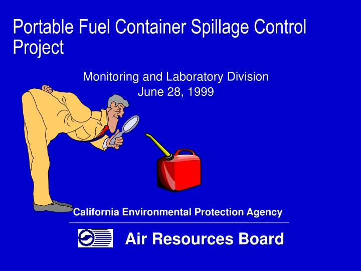 portable fuel container spillage control project n.