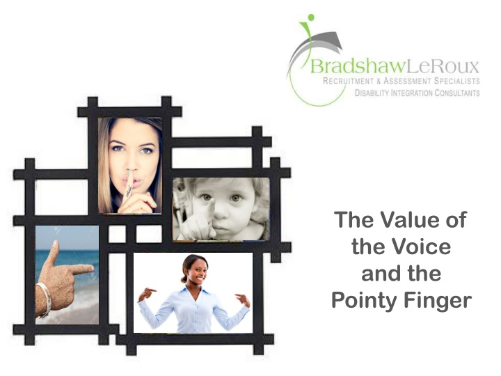 the value of the voice and the pointy finger n.