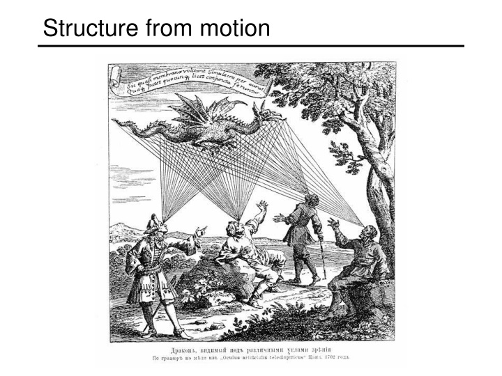 structure from motion n.
